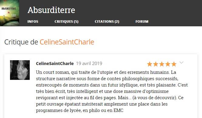 Critique celine saint charle absu